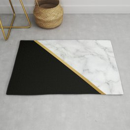 Marble, Stone, Color Block, Minimalist Art Rug