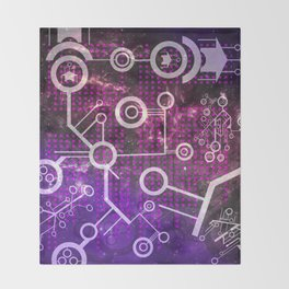 Digital Universe Throw Blanket