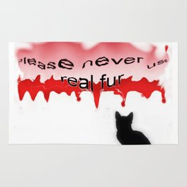 Never real fur Rug
