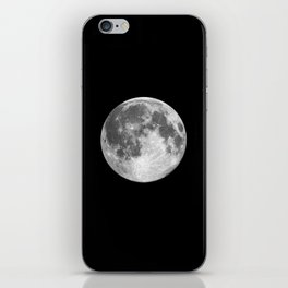 Full Moon print black-white photograph new lunar eclipse poster bedroom home wall decor iPhone Skin