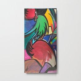 Tropical Pelican Metal Print