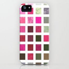 Crape Myrtle Abstract Rectangles 2 iPhone Case