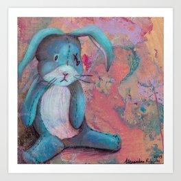 Blue Rabbit Art Print