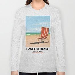 Hastings Beach Easy Sussex Long Sleeve T-shirt