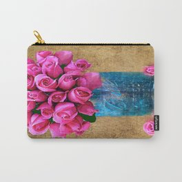 BALL MASON JAR AND ROSES Carry-All Pouch