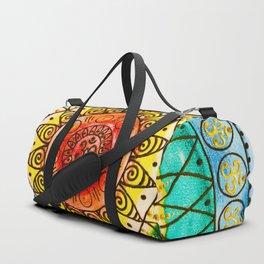 OM - Chakra Mandala - Rainbow - Charm Duffle Bag