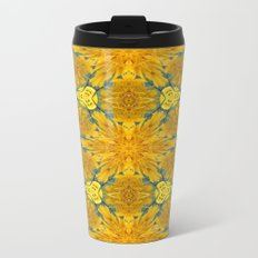 Yellow Sunflowers on a Sunny Day Metal Travel Mug
