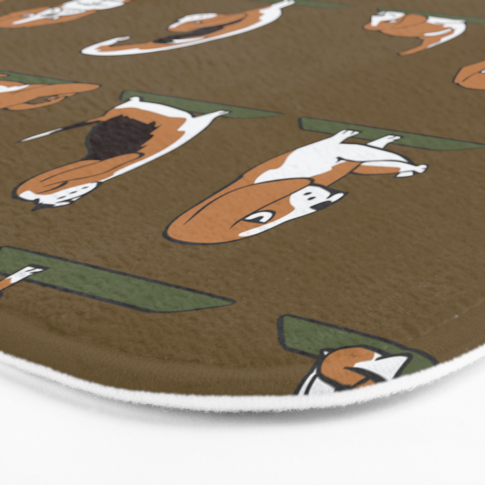 Beagle Yoga Bath Mat