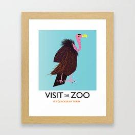 Visit the Zoo Framed Art Print
