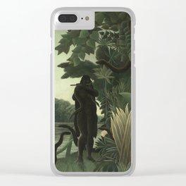 Henri Rousseau - The Snake Charmer Clear iPhone Case