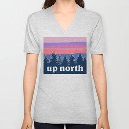 up north, pink hues Unisex V-Neck