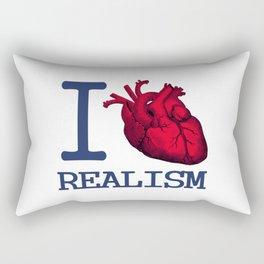 I heart realism Rectangular Pillow
