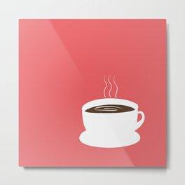 Coffee - Coral / Terracota Metal Print