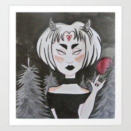 brimstone girl Art Print
