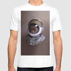 Spacewalker, The 100 Mens Fitted Tee White MEDIUM