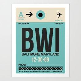 BWI Baltimore Luggage Tag 1 Art Print