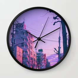 Lilac for a Night Wall Clock