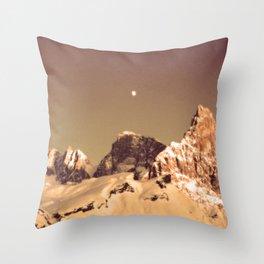Dream a little Dream #Moon #Mountains Throw Pillow