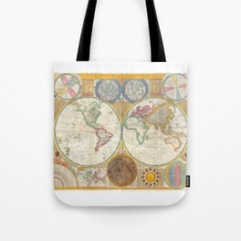 1794 Vintage World Map Samuel Dunn Tote Bag