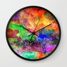 Watercolor Wash Wall Clock