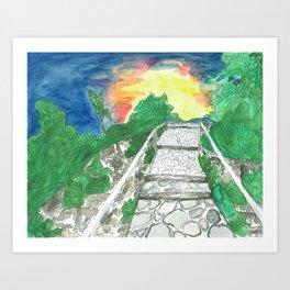 Evening Over Mt. Baldy Art Print