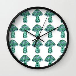 Many Many Mushrooms (4) Wall Clock