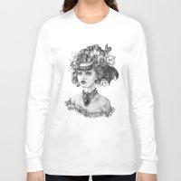 fleur de lis Long Sleeve T-shirts featuring Fleur De Lis by April Alayne