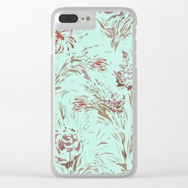 Poetic Floral Clear iPhone Case