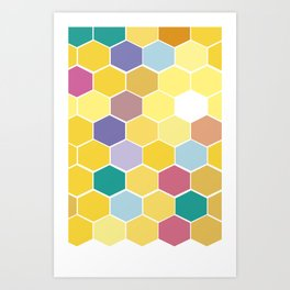 Honey Comb turns Zesty Art Print