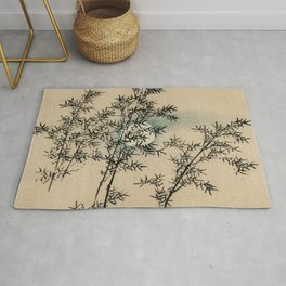 Bamboo Branches Traditional Japanese Flora Rug