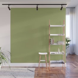 Moss Green | Solid COlour Wall Mural