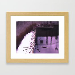 the waterfall of breslau Framed Art Print