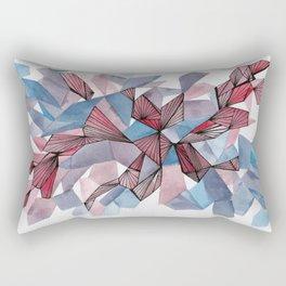 Crystaline - Watercolour + Ink drawing Rectangular Pillow