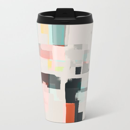 Abstract Painting No. 7 Metal Travel Mug