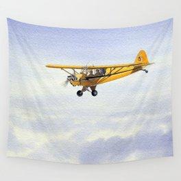 J-3 Piper Cub Aircraft Wall Tapestry