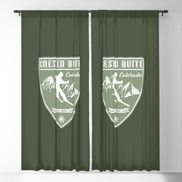 Crested Butte Colorado Blackout Curtain
