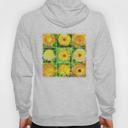 Watercolour Collage of Yellow And Orange Marigolds Hoody