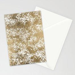 Elegant chic faux gold foil paint splatters pattern Stationery Cards