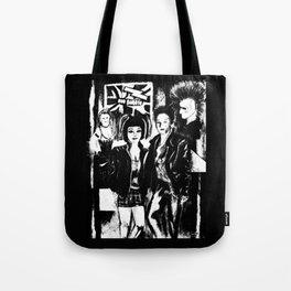 Alternative fashion and leather jacket style at the club Tote Bag