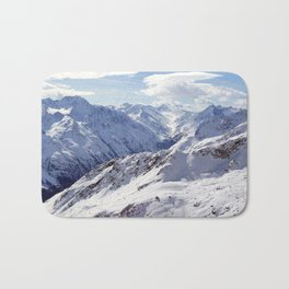 Snowy Mountains Bath Mat