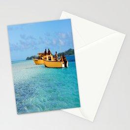 Orange Boats  Stationery Cards