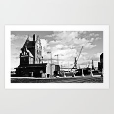 Hanseatic. The house of the pilotage in Stralsund. Art Print