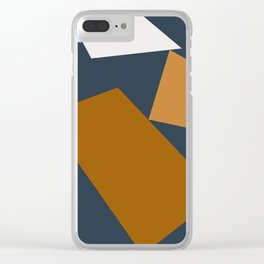 Abstract Geometric 25 Clear iPhone Case