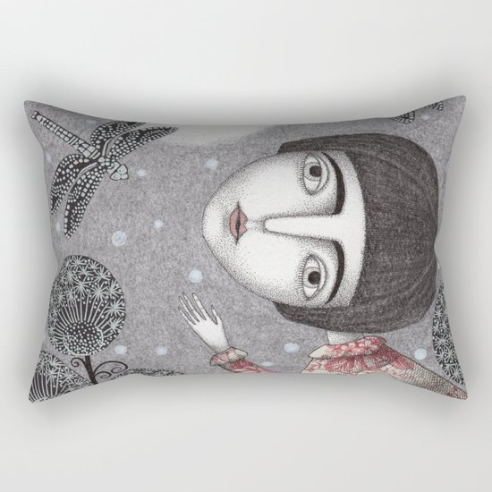 Night Sky. Dragonfly. Rectangular Pillow