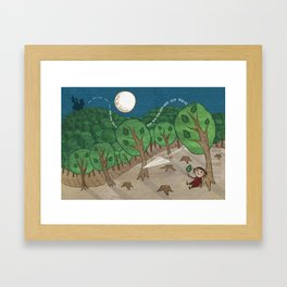 The little big forest Framed Art Print