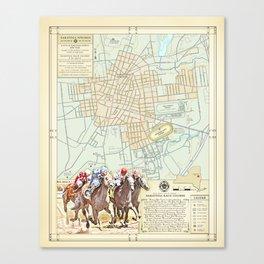 Saratoga Springs [featuring the Saratoga Horse track] Canvas Print