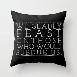 Not just pretty words. Throw Pillow