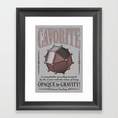Cavorite Framed Art Print