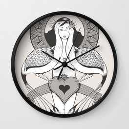 Vanity - Peacock Wall Clock