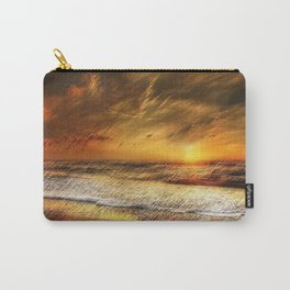 East Matunuck Beach Rhode Island Sunset Landscape Painting by Jeanpaul Ferro Carry-All Pouch